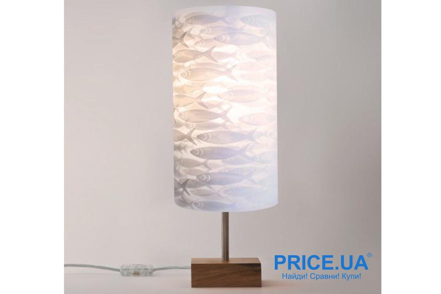 Настольная лампа своими руками. Лампа  с декором бумаги
