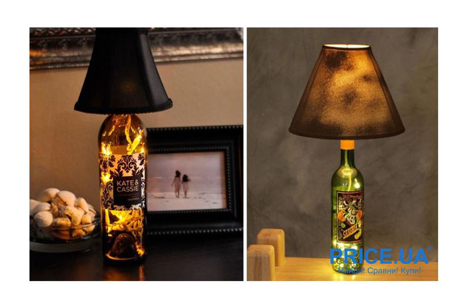 Настольная лампа своими руками. Лампа из бутылки