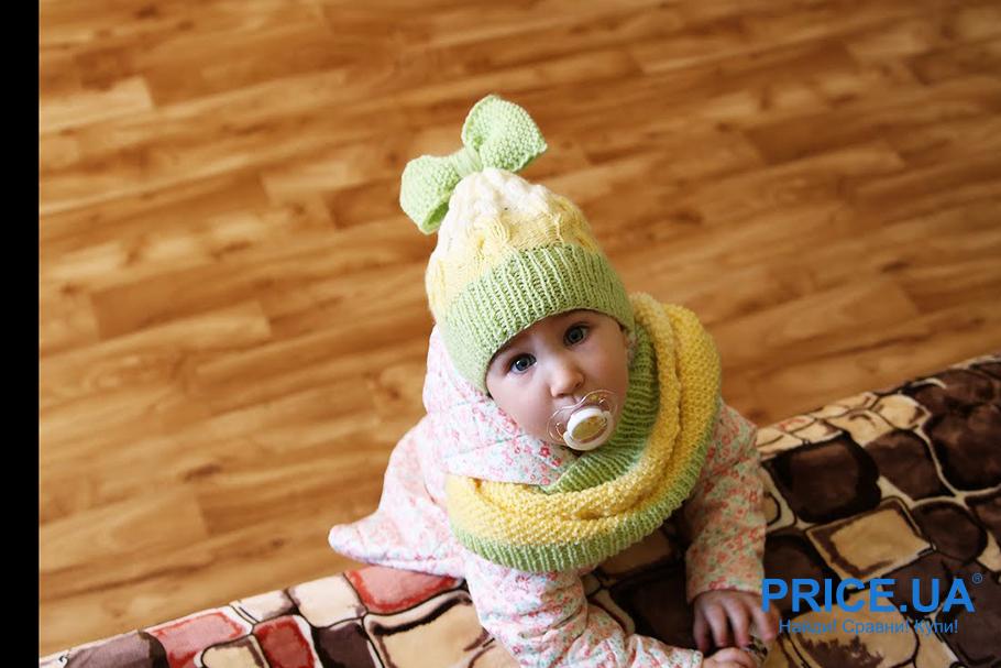 Прогулки с малышом в морозные дни: что потребуется. Шарф