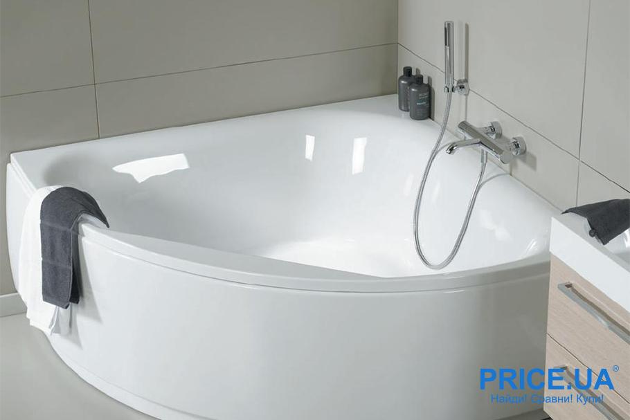 Акриловая ванная: советы по выбору. Определитесь с формой