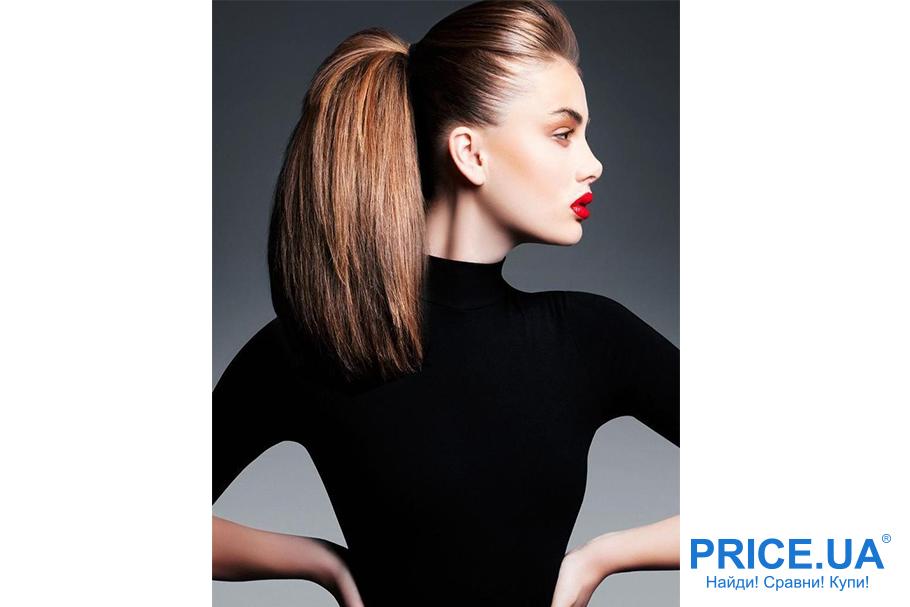 Прически для нового года. Идеи для длинных волос - конский хвост