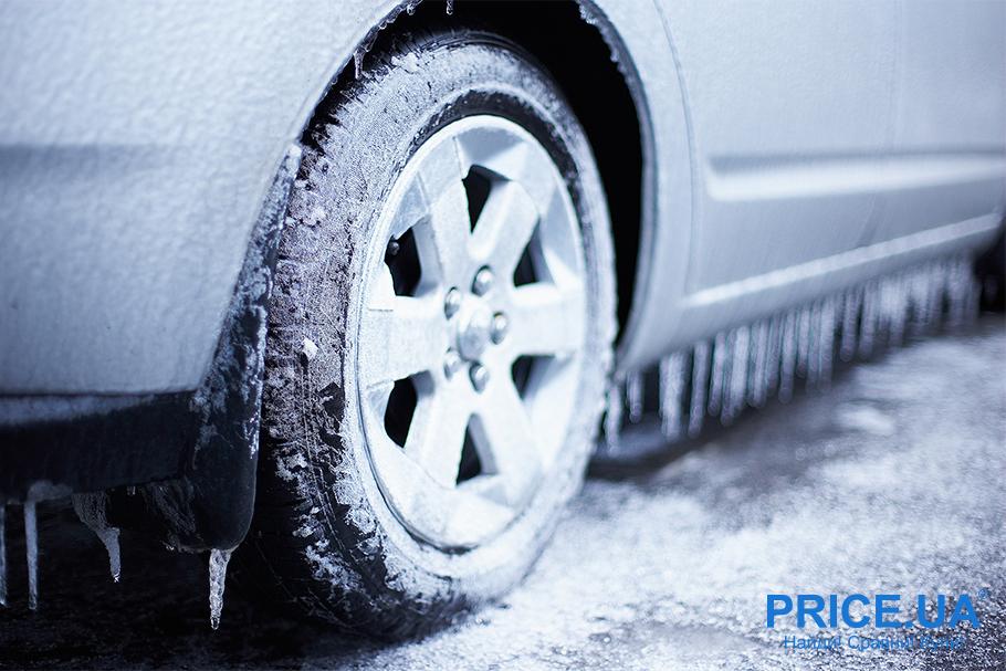 Правила очистки льда с автомобиля. Колесные арки