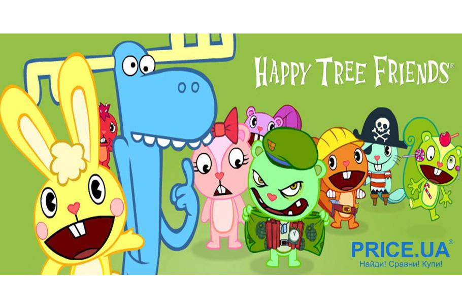 """Топ лучших мультов-ужастиков.  """"Happy Tree Friends"""" (""""Счастливые лесные друзья""""), 1999"""
