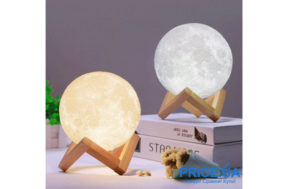 Идеи подарков на Новый год родителям. Лунный светильник