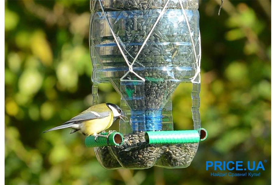 Кормушка для птиц своими руками. Из пластиковой бутылки