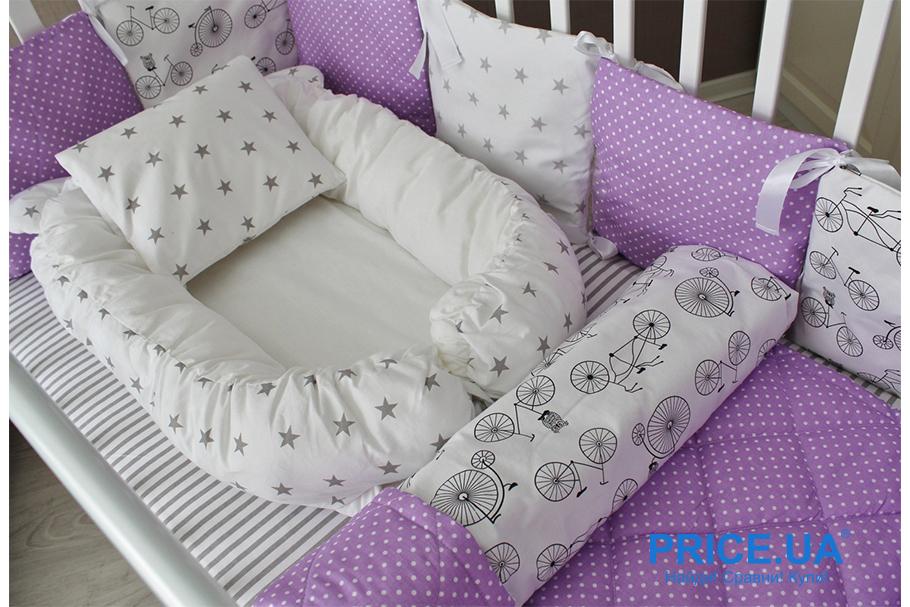Комплект в кроватку: как сшить самой бортики-защиту? Бамперы-валики
