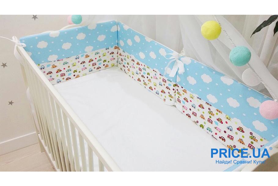 Комплект в кроватку: как сшить самой бортики-защиту? Выбор материала