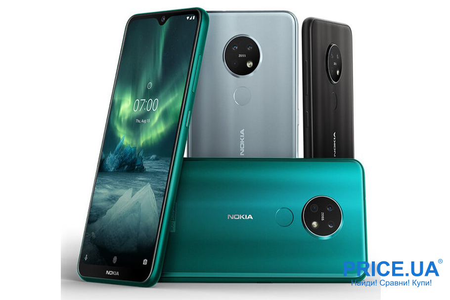 Десятка лучших среднебюджетных смартфонов. Nokia 7.2