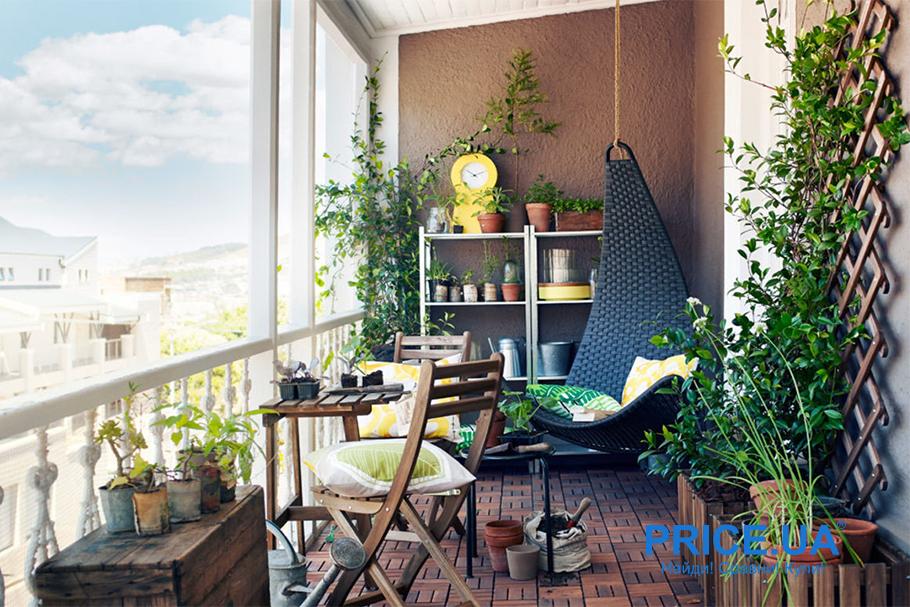 Крутые идеи для дизайна балкона. Тропический балкон