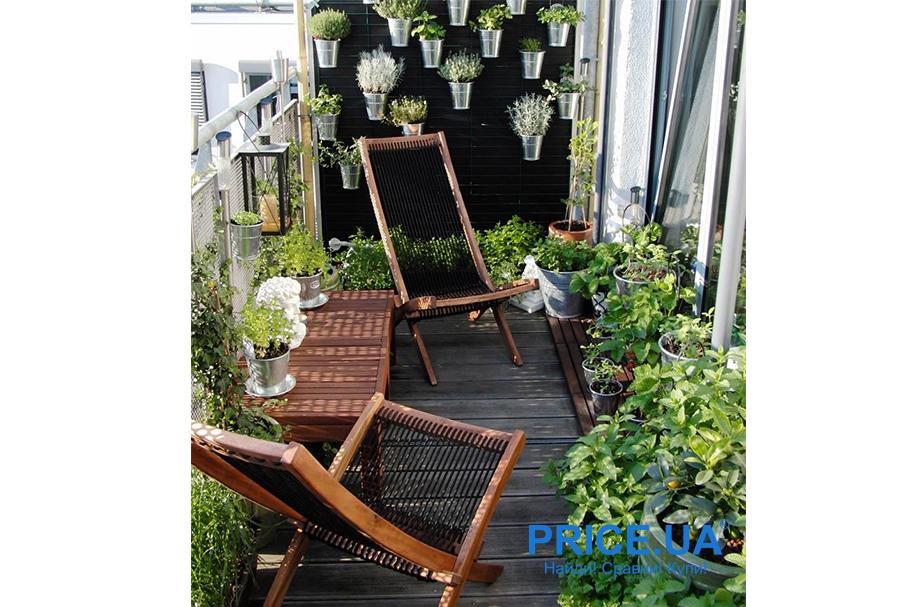Крутые идеи для дизайна балкона. Балкно-сад
