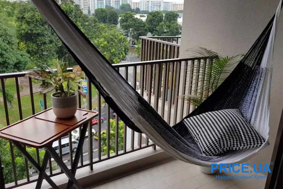 Крутые идеи для дизайна балкона. С гамаком
