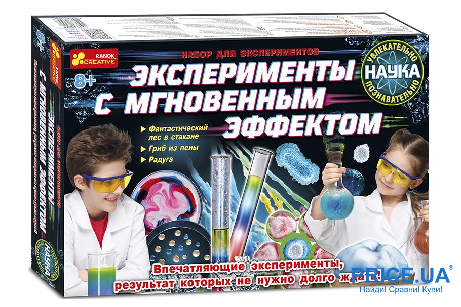 """Топ игровых наборов для детей. Ranok-Creative """"Эксперименты с мгновенным эффектом"""""""