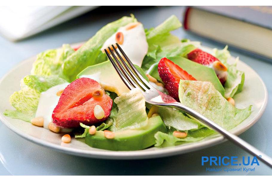 Крутые рецепты салатов с клубникой. Клубника + авокадо