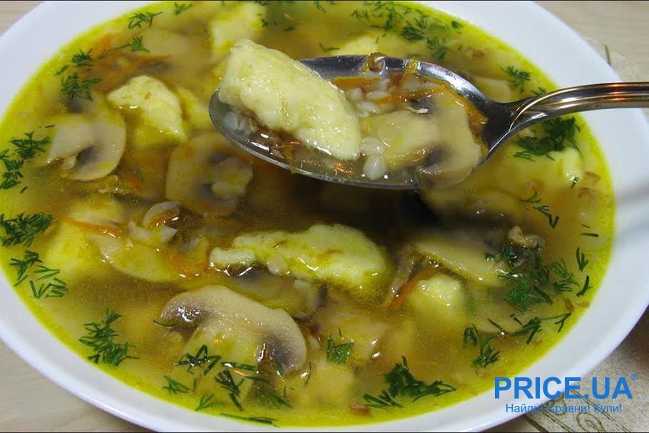 Вкусные блюда из гречки. Суп с картофельными клецками