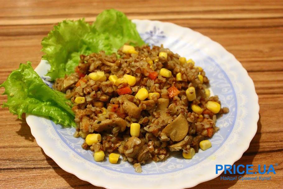 Вкусные блюда из гречки. С кукурузой и болгарским перцем
