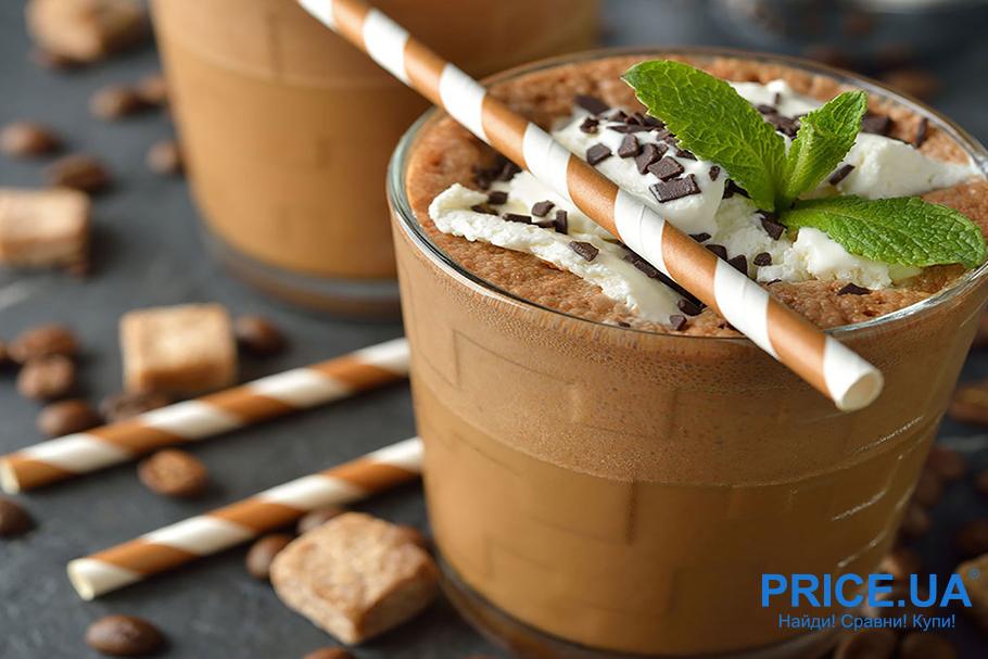 Освежающие летние коктейли на основе кофе. Шоколадно-мятный кофе