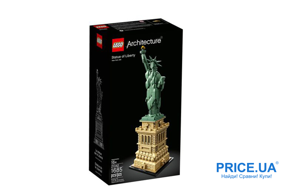 Классные подарки ребенку, которых у него точно нет. LEGO Architecture 21042 Статуя Свободы
