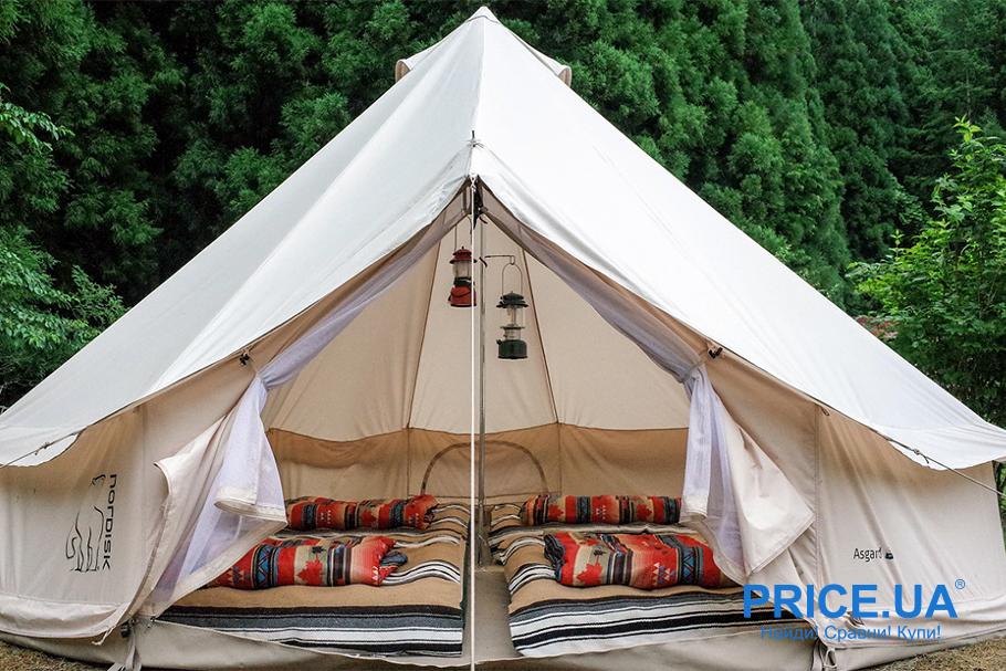 В поход на байдарках: что взять.  Палатка