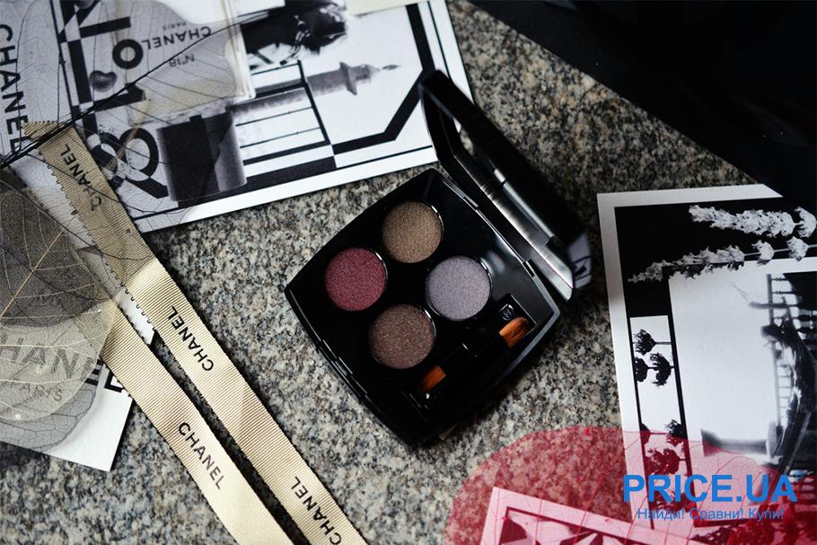 Лайфхак по созданию красивых стрелок. Chanel Les 4 Ombres Multi-Effect Quadra Eyeshadow 332 Noir Supreme