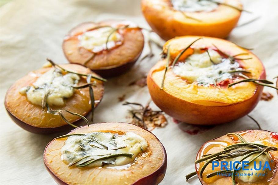 Необычные рецепты из слив. Сливы и персики с сыром